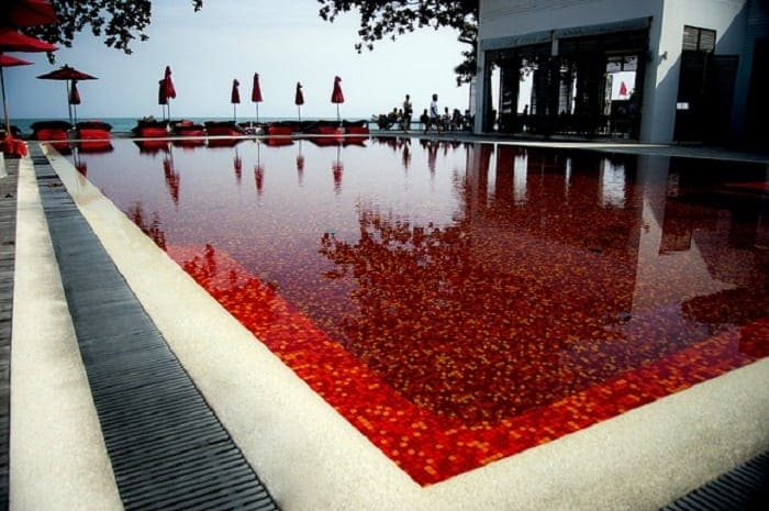 Blood red pool The library Resort Samui